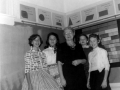 Penny Newman, Rita Arellano, Mrs Holder, Linda Potts, Vernell Spicer 1957.jpg